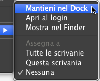 os x mavericks mantieni nel dock