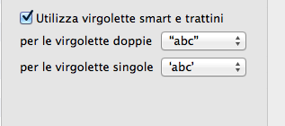 os x mavericks virgolette smart