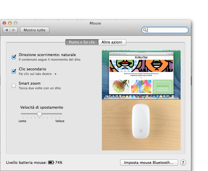 os x mavericks magic mouse