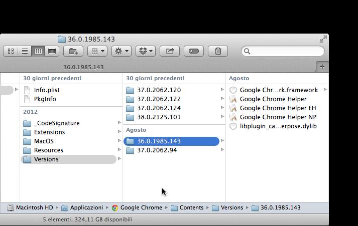 google chrome versioni precedenti
