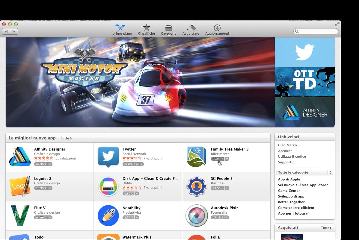 finestra mac app store