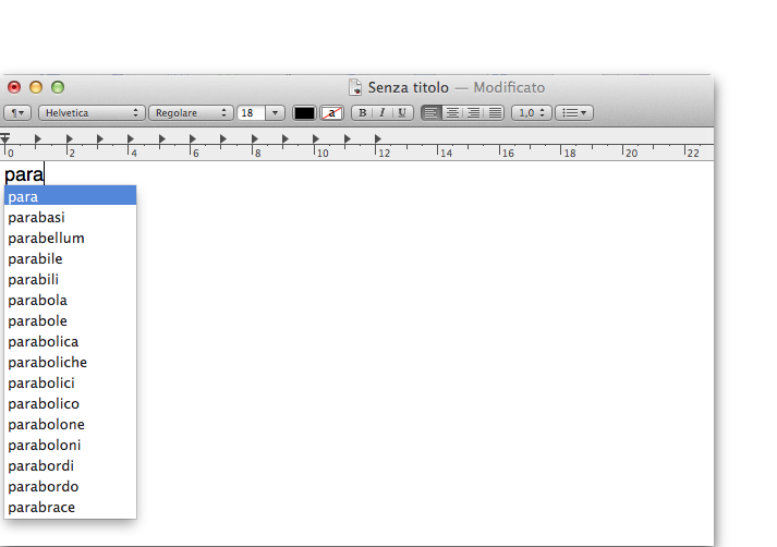 textedit os x mountain lion