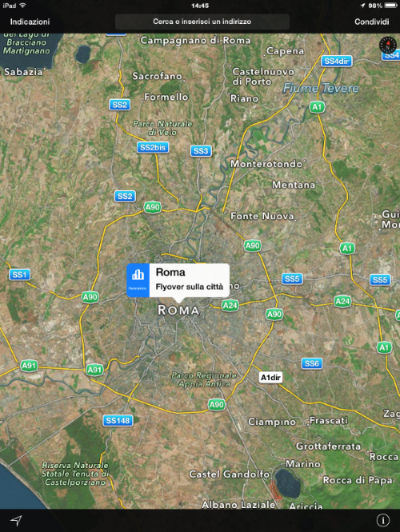 flyover iOS 8