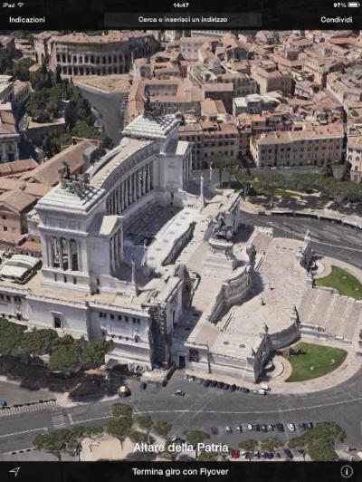 iOS 8 flyover altare della patria