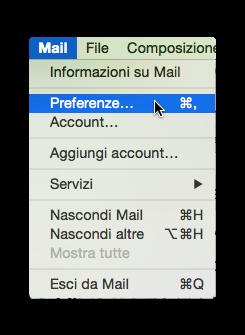 preferenze mail os x
