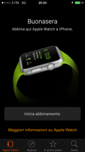 apple watch abbina