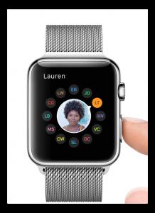 apple watch selezione contatti