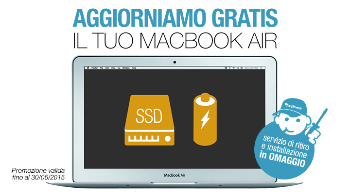 aggiorna macbook air