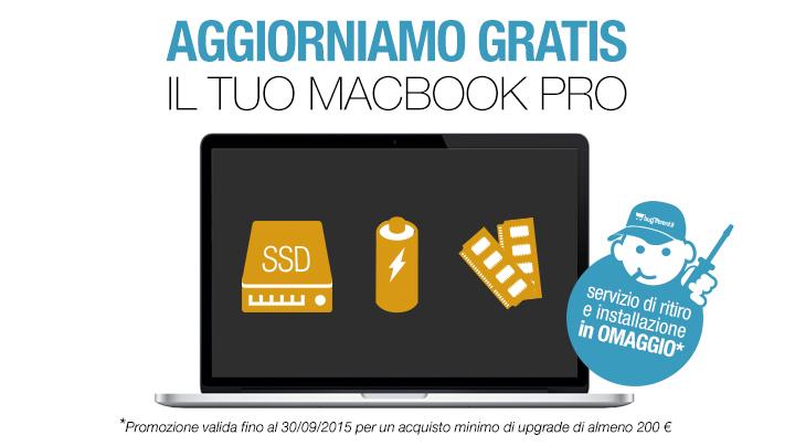 aggiorniamo gratis il tuo macbook pro