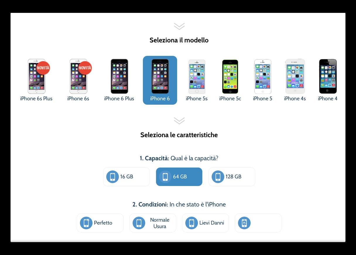 valutazione iphone 6 usato
