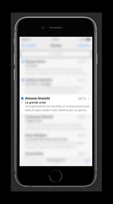 funzione peek su iphone 6s