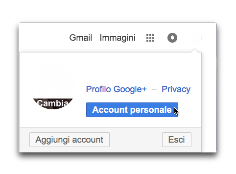google account personale