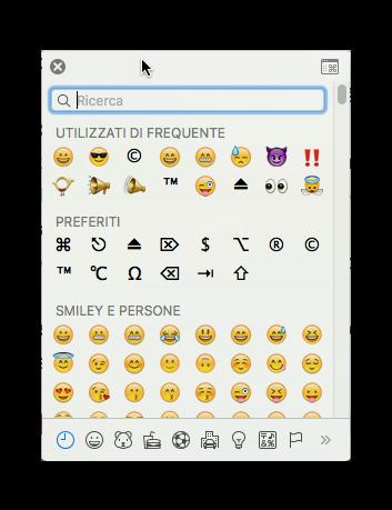 emoji e simboli os x