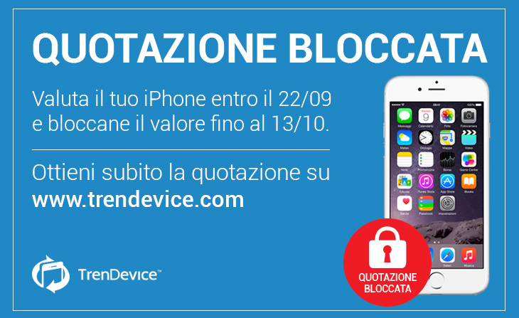 quotazione bloccata iPhone