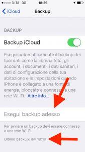 backup iCloud
