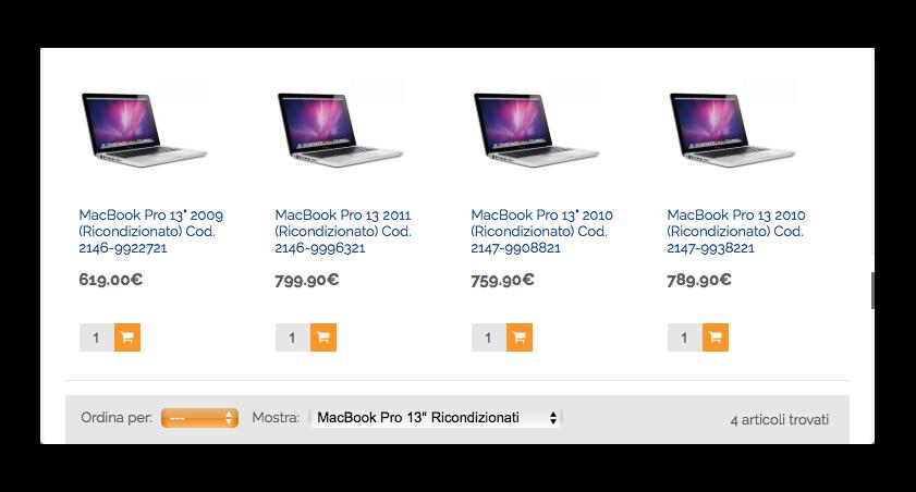macbook pro 13 pollici ricondizionati