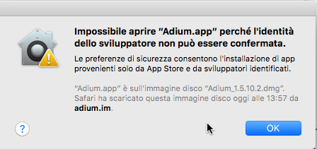 gatekeeper impossibile aprire app
