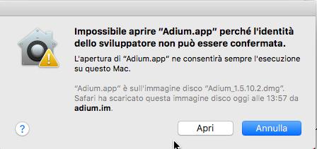 apri app gatekeeper