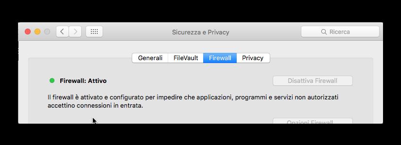 firewall attivo