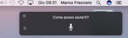 interfaccia siri