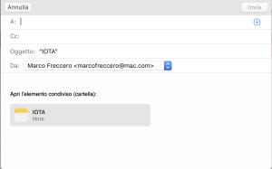 condividere cartella via mail