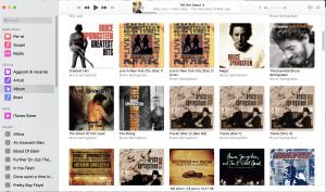 interfaccia  app musica