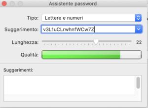 assistente password