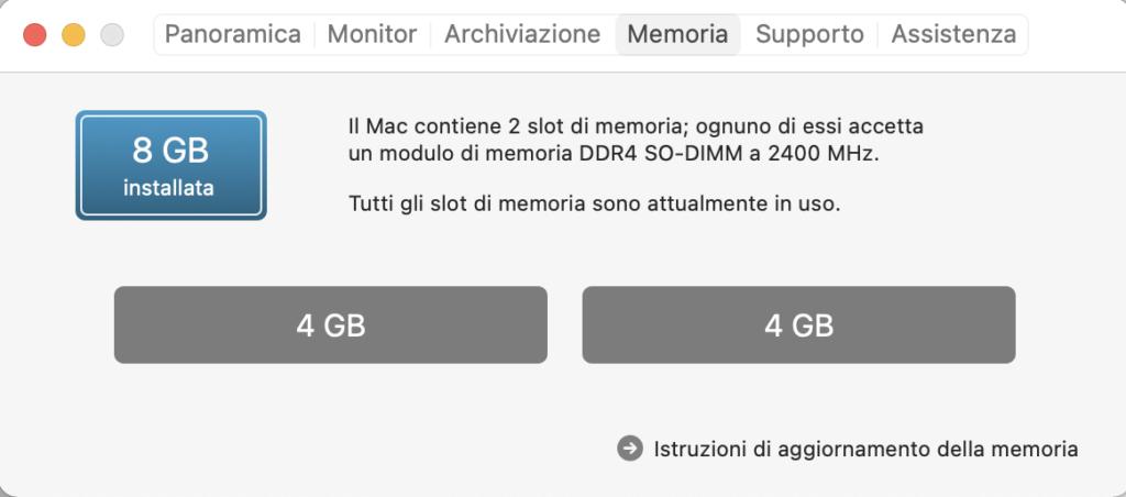 memoria mac